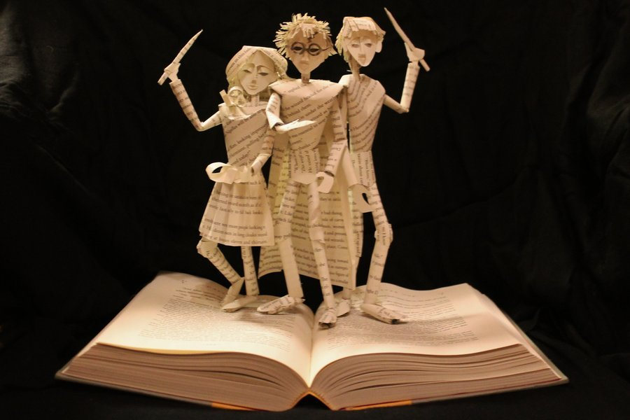 cool books harry potter slide sculptures brown 3d harvey paper sculpture jodi artist things essay come sculpted origami