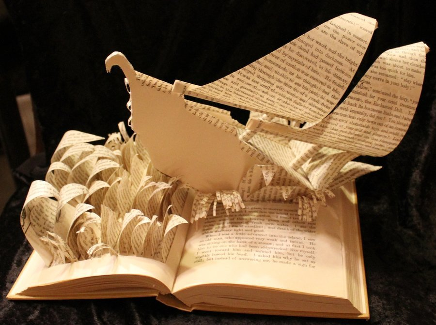 cool books sculpture adams 3d sculptures paper carving tyson ship sinbad artist pages boat jodi sinbads ships using into livres