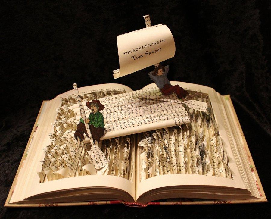 Cool Book Cover Ups ~ Cool book art tyson adams