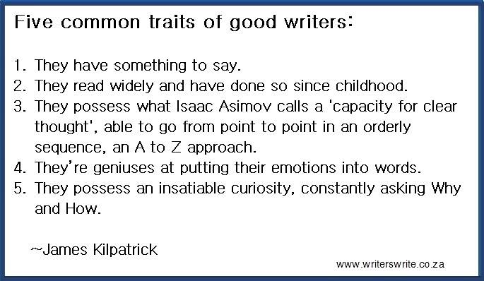 Five traits of good writers