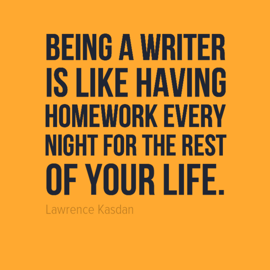 being a writer