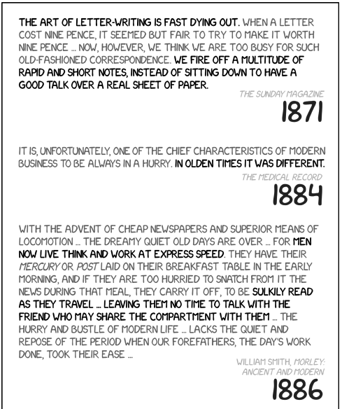 XKCD on declining writing standards