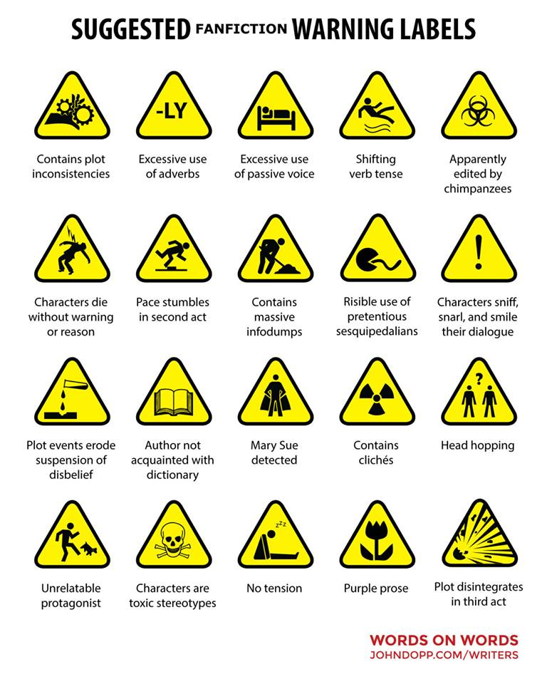 Warning labels for fan-fic