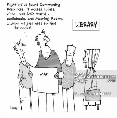 """Well we've found Community Resources, IT access points,video and DVD rental,audiobooks and meeting rooms...Now we just need to find the books..."""